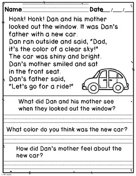 Reading Comprehension Homework