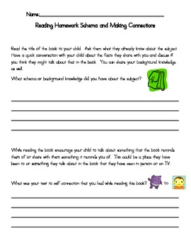 Reading Comprehension Homework Sheets