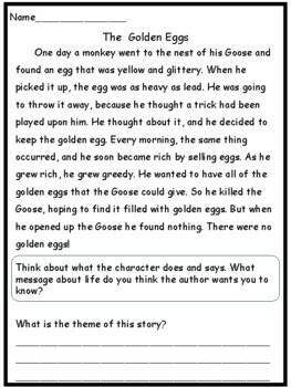 Reading Comprehension: Identifying Theme in Folktales