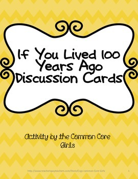 Reading Comprehension Activity: If You Lived 100 Years Ago
