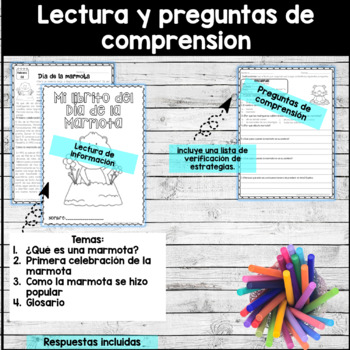 Groundhog Day in Spanish - Reading Comprehension In Spanish - Día de la marmota