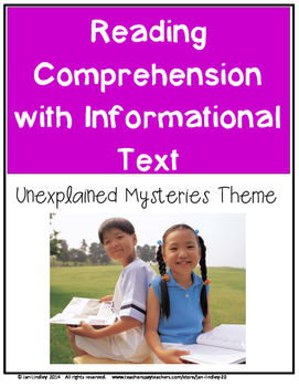 Reading Comprehension Informational Text: Unexplained Mysteries