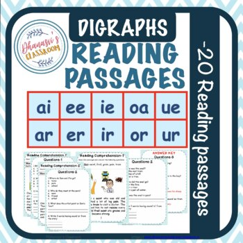 Reading Comprehension-Jolly Phonics diagraphs printable worksheets