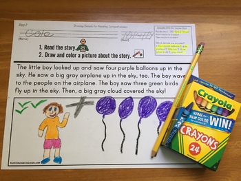 Reading Comprehension Key Details with Illustrations IEP GOAL Skill Builder
