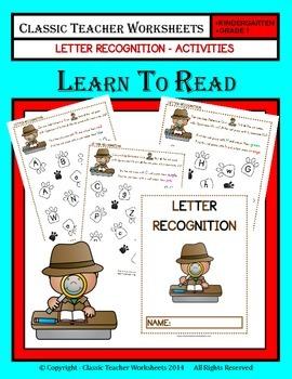 Letter Recognition Activities - Kindergarten to Grade 1 (1st Grade)