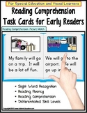 Reading Comprehension LARGE Task Cards for Special Educati