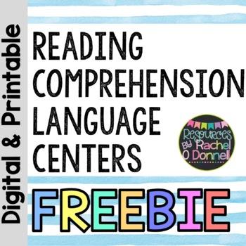 Reading Comprehension Language Centers FREEBIE