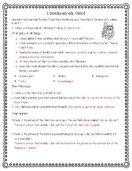 Reading Comprehension - Leonardo da Vinci