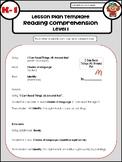 Reading Comprehension Lesson Plans
