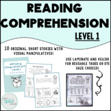 Reading Comprehension Level 1- Short Stories with Visual Manipulatives