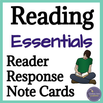 Fiction Reading Response Cards for Middle School, High School