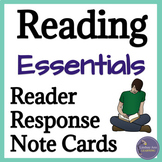 Fiction Reading Response Cards and Graphic Organizers