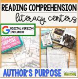 Reading Comprehension Literacy Center: Author's Purpose