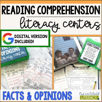 Reading Comprehension Literacy Center: Fact and Opinion- Included in Bundle #2