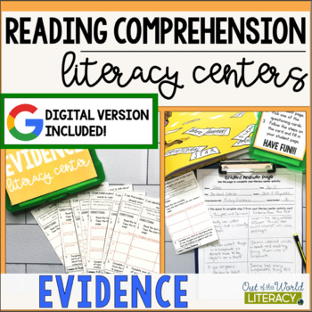 Reading Comprehension Literacy Center: Finding Evidence- Included in Bundle #2