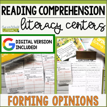 Reading Comprehension Literacy Center: Forming Opinions