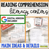 Reading Comprehension Literacy Center: Main Idea and Details