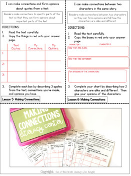 Reading Comprehension Literacy Center: Making Connections