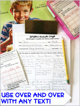 Reading Comprehension Literacy Center: Making Connections- Included in Bundle #1