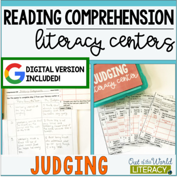 Reading Comprehension Literacy Center: Making Judgments