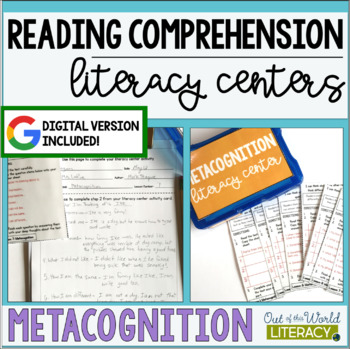 Reading Comprehension Literacy Center: Metacognition- Included in Bundle #1