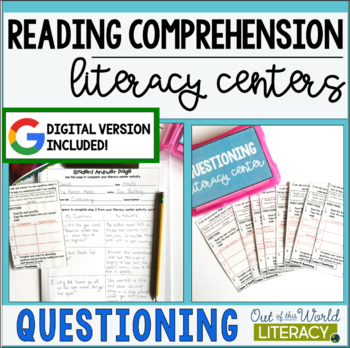 Reading Comprehension Literacy Center: Questioning- Included in Bundle #1