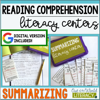 Reading Comprehension Literacy Center: Summarizing
