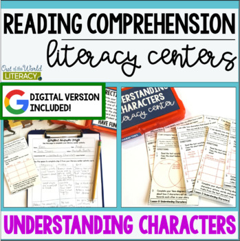 Reading Comprehension Center: Understanding Characters- Included in Bundle #1