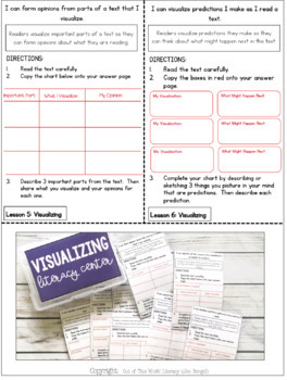Reading Comprehension Literacy Center: Visualizing