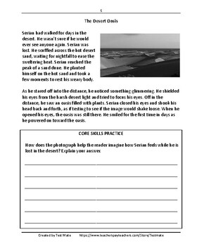 Reading Comprehension: Literary Texts (Common Core Worksheets)