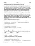 Reading Comprehension: Lola Y Rosa
