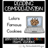 Paperless Reading Comprehension: Lola's Famous Cookies (Di