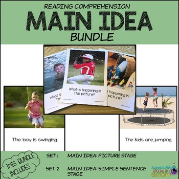 Reading Comprehension MAIN IDEA Pictures & Sentences BUNDLE