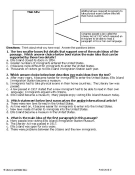 Reading Comprehension:  Main Idea