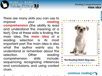 Reading Comprehension: Main Idea - NOTEBOOK Gr. 3-8