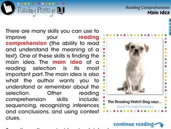 Reading Comprehension: Main Idea - PC Gr. 3-8