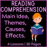 Reading Comprehension | Main Idea & Theme | Cause & Effect | Gr3-4