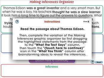 Reading Comprehension: Making Inferences Organizer - NOTEBOOK Gr. 3-8