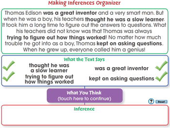 Reading Comprehension: Making Inferences Organizer - NOTEBOOK Gr. 3-8