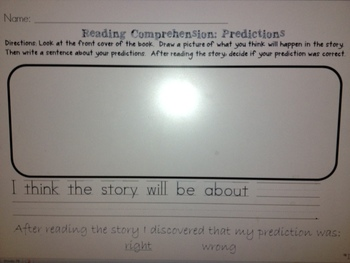 Reading Comprehension: Making Predictions and Characters and Setting