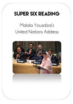 Reading Comprehension - Malala Yousafzai Speech