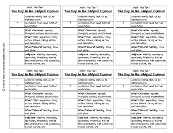 Reading Comprehension Mark the Text Bookmark: The Boy in the Striped Pajamas