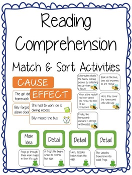 Reading Comprehension Match & Sort Activities