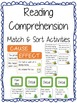Reading Comprehension Match & Sort Activities