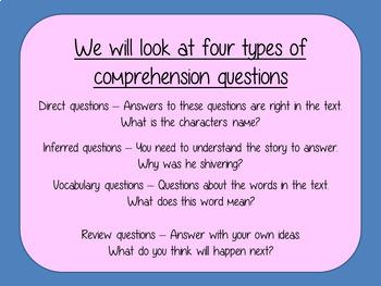 Reading Comprehension – Matilda