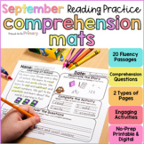 Back to School Reading Comprehension   Printable & Digital
