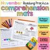 November Reading Comprehension Passages | Printable+Digita