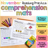 November Reading Comprehension Passages | Printable+Digita