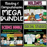 Reading Comprehension Mega BUNDLE: SCIENCE & SOCIAL STUDIES!