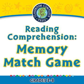 Reading Comprehension: Memory Match Game - NOTEBOOK Gr. 3-8